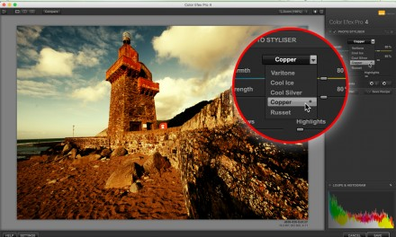 Try Color Efex Pro 4's Photo Styliser for a rich, warm landscape