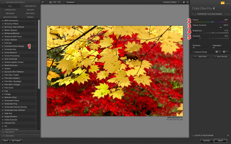 Google Nik Collection Color Efex Pro Contrast Color Range