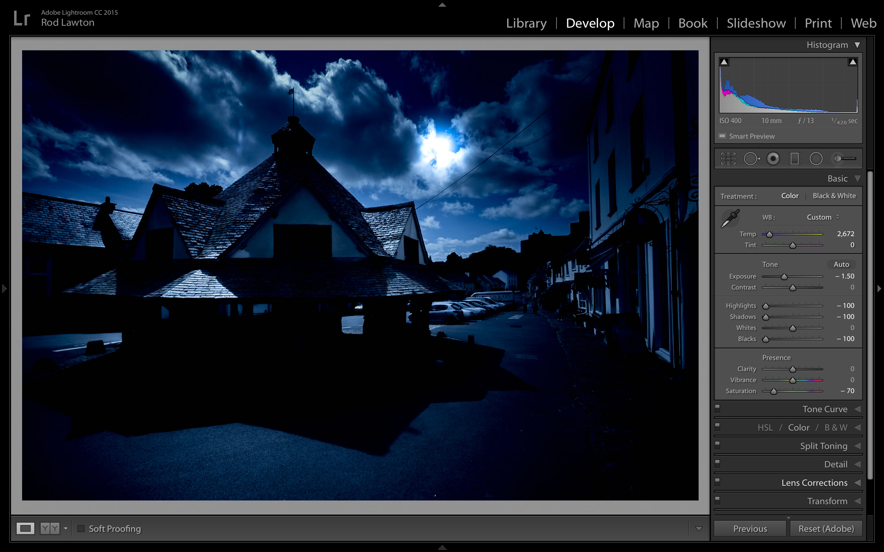 Free Lightroom preset Moonlite